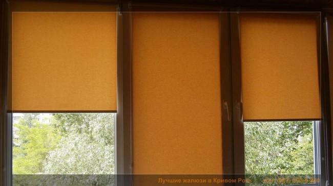 ролеты на ламинированных окнах под дерево